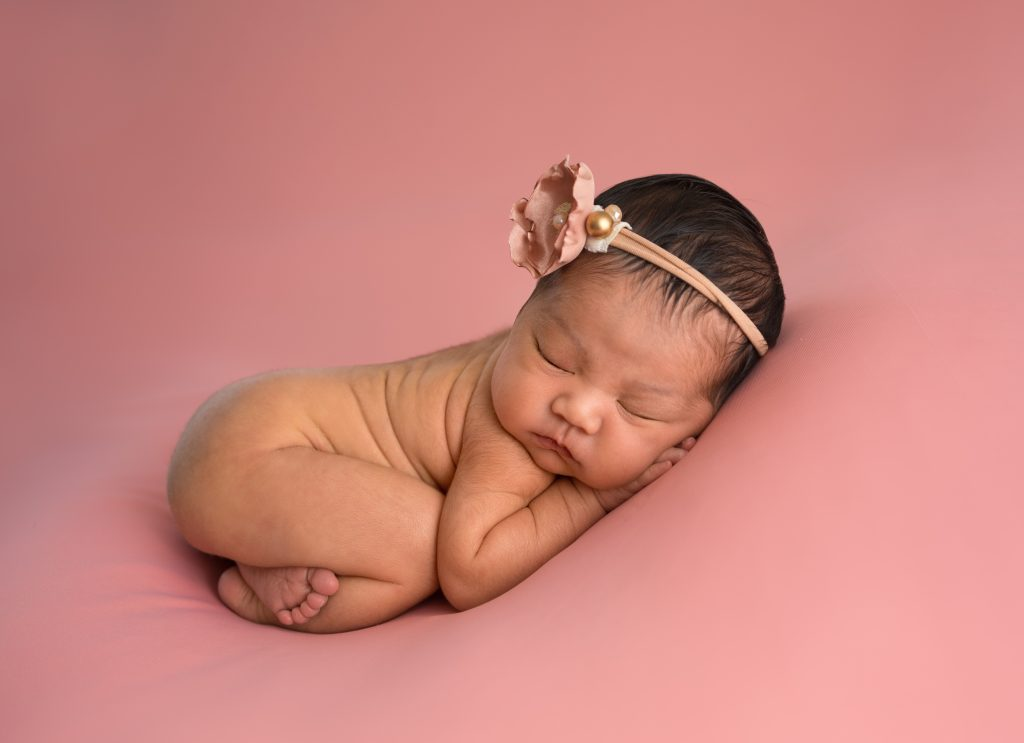 Newborn Portrait Baby Girl in Pink by Lin Ellen Studios serving Philadelphia