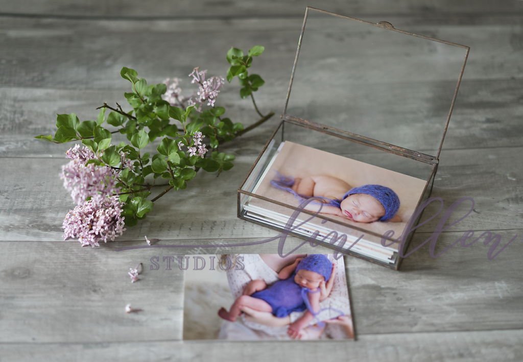 Printed Heirloom Images in a Glass Folio Box